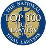 Logo Recognizing The Wilson Law Firm's affiliation with National Trial Lawyers Top 100